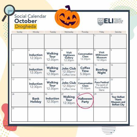 Social Calendar Drogheda